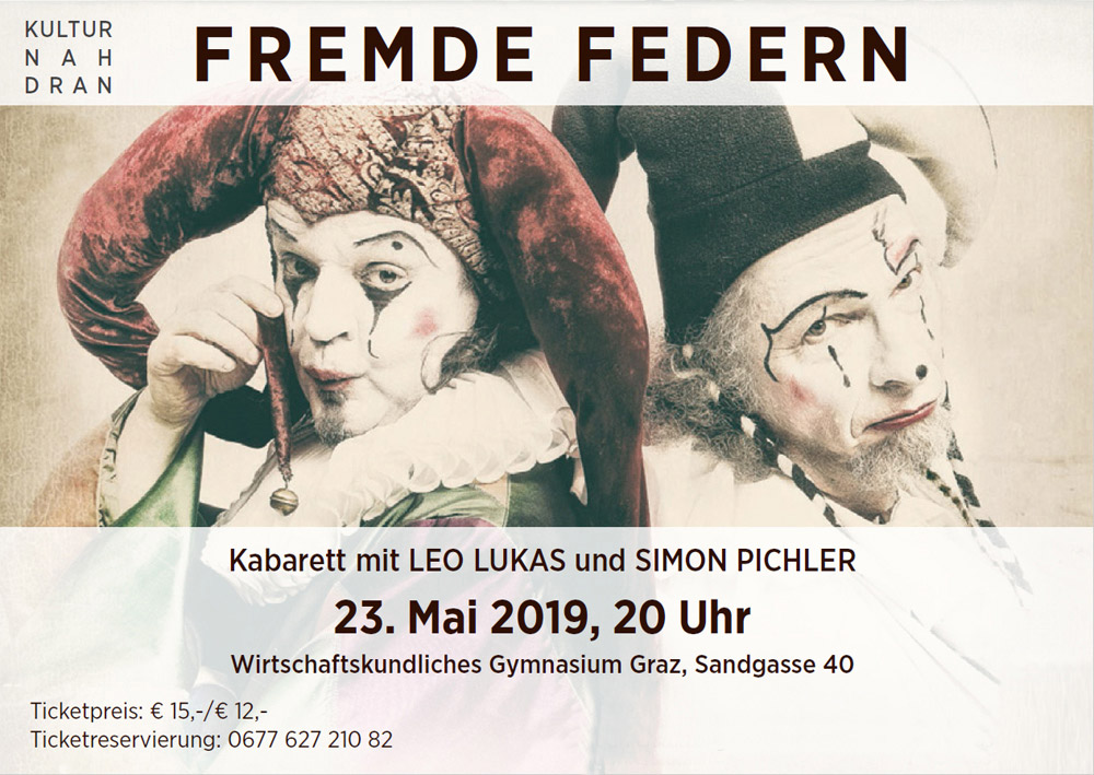 Fremde Federn – Kabarett Leo Lukas und Simon Pichler